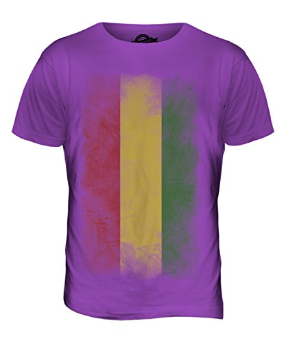 CandyMix Bolivien Verblichen Flagge Herren T Shirt Violett