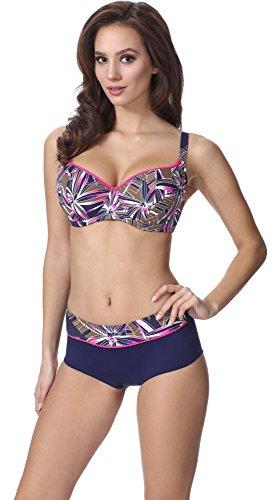 Merry Style Damen Figurformender Bikini F06 Muster-308