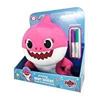 Doodle Me Pink Mommy Shark Plush