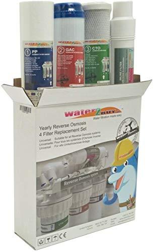 Conjunto De Reemplazo De Filtro Universal Water2Buy Para Osmosis Inversa En 4 Fases (Blanco)