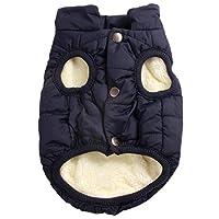 Joydaog - Chaleco abrigo para perro (2capas, con forro polar), color rojo