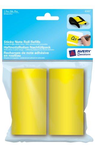 Avery Zweckform 8383 HaftnotizRollen neongelb 2er-Pack