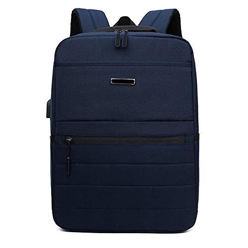 Preisvergleich Produktbild OaLt-t Rucksack männlich lässig Rucksack Multifunktions-USB Aufladung Business Laptop Rucksack (Color : Blue)