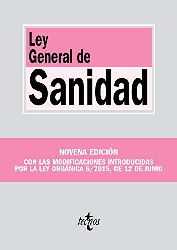 Ley General de Sanidad (Derecho - Biblioteca De Textos Legales) por Editorial Tecnos
