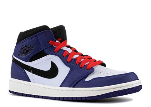 81125d1df307 Jordan Men s 1 Mid Se Fitness Shoes Multicolour (Deep Royal Black Half Blue  000