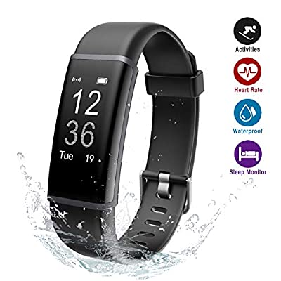 Lintelek Fitness Trackers, Activity Trackers Sports Watch Pedometer, Heart Rate Monitor, 14 Sports Modes, Step Counter Wristband for Kids, Men and Women from Lintelek