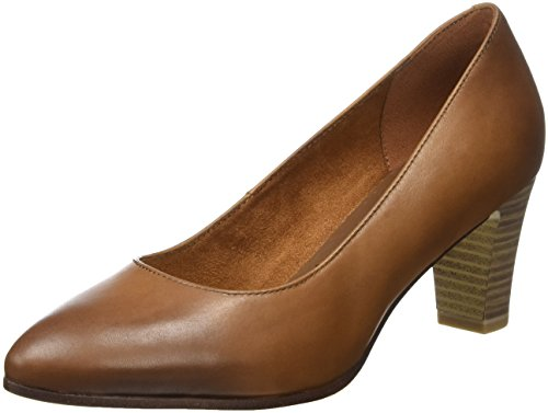 Tamaris Damen 22422 Pumps, Braun (Cognac), 38 EU