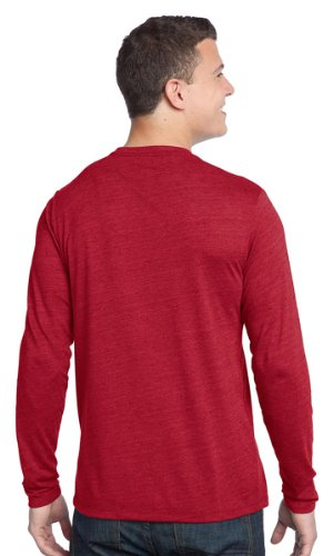 District – Young Herren Strukturierte Long Sleeve Tee Dunkelgrau