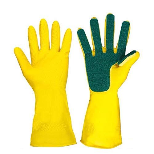Latex Sponge Scrub Guantes lavar platos