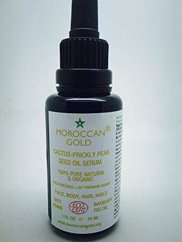 Moroccan Gold - Huile de pépin de figue de barbarie biologique ECOCERT 100 % pure et naturelle