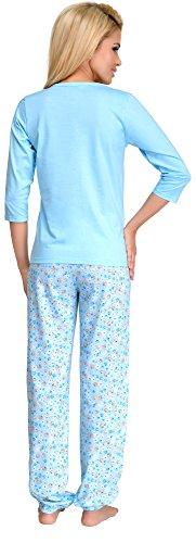Merry Style Damen Schlafanzug 1026 Hellblau