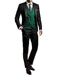 GEORGE Herren trajes de etiqueta smoking del juego de la chaqueta de los trajes de 3