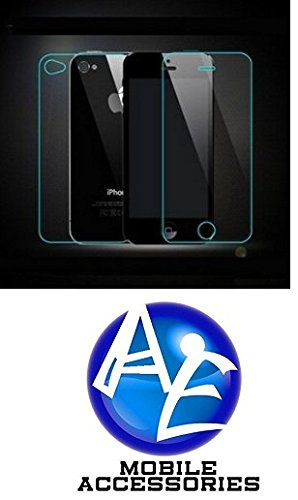 AE MOBILE ACCESSORIES AE Tempered Glass Screen Scratch Protector Guard for Apple Iphone 4/4S Front and Back