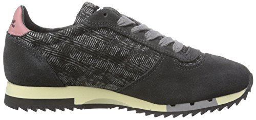 Blauer USA Worunlow/Her, Baskets Basses femme Multicolore - Mehrfarbig (CHARCOAL)
