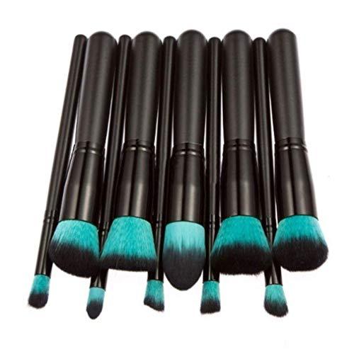 (SWQ 10 STÜCKE Professionelle Make-Up Pinsel Set Für Foundation Augenbraue Eyeliner Blush Cosmetic)