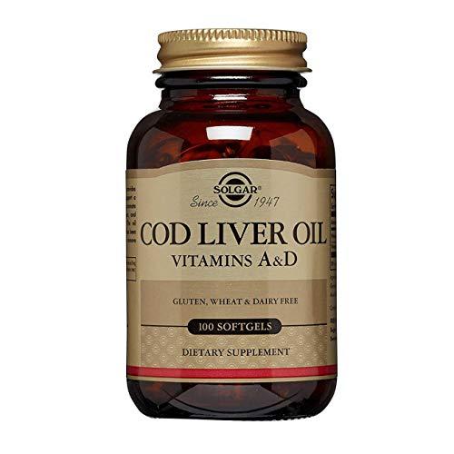 Solgar Aceite de hígado de bacalao Cápsulas blandas - Envase de 100