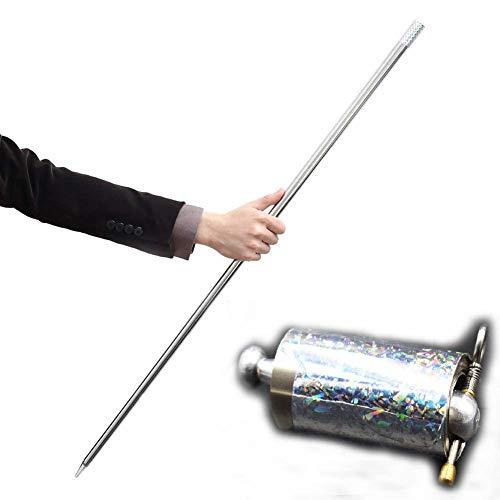 stab Tricks für professionelle Zauberer Stage-Appearing Cane Silber Keule (110cm) ()