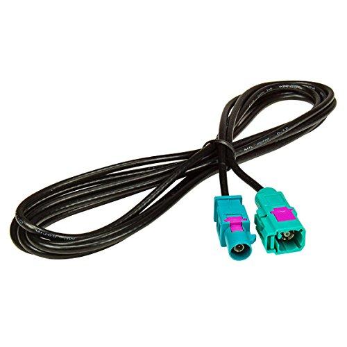 fakra kabel tomzz Audio 1600-012 Fakra Antennen-Verlängerung 2m Fakra Stecker auf Fakra Buchse, Kabel RG174, Typ Z
