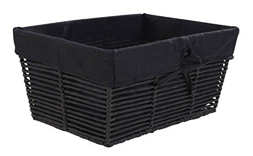 Aufbewahrungskorb Brotkorb Obstkorb Lebensmittelkorb KANTOR | Kunststoff mit schwarzem Stoff