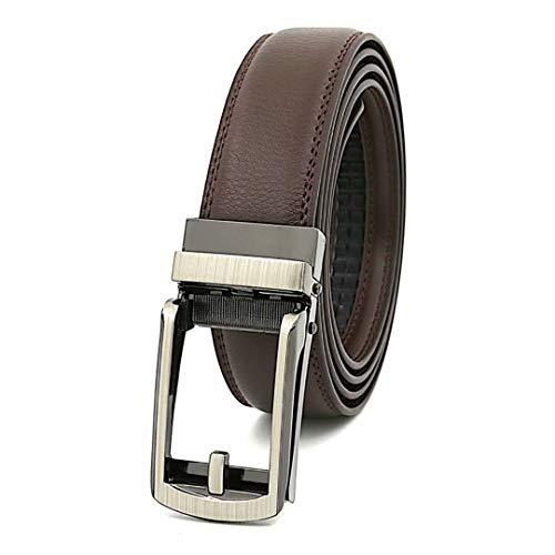 f10763d98f7698 Hiistandd Herren Leder Gürtel Rindsleder 110-130cm Jean Business Belt with  Metal Buckle