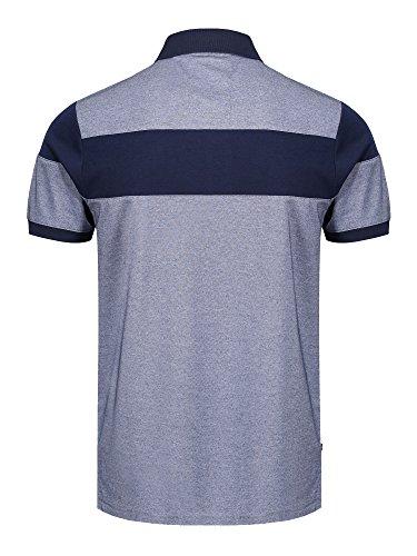 LUKE SPORT Herren Poloshirt Blue Melange