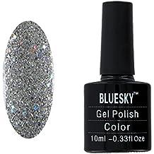 Bluesky Silver Glitter Explosión Gel UV LED empapa del esmalte de uñas 10 ml