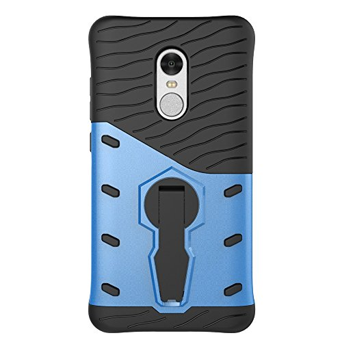 Für Xiaomi Hongmi Note 4 Fall Neue Rüstung Tough Style Hybrid Dual Layer Rüstung Defender Soft TPU / PC Rückseiten Fall Fall Mit 360 ° Stand [Shockproof Case] ( Color : Blue ) Blue