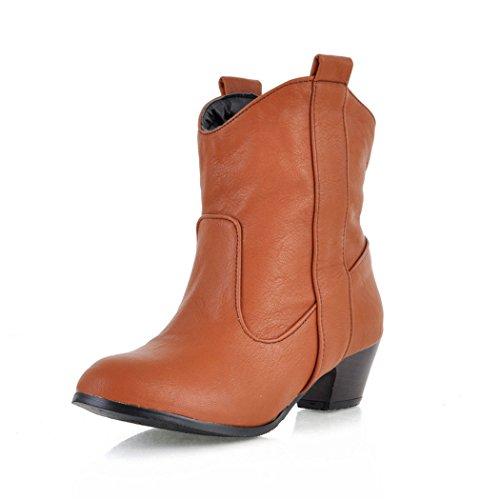 ZQ@QXL'Europe et de l'United States Code manchon avec les bottes et les souliers à talon haut épais bottes bottes