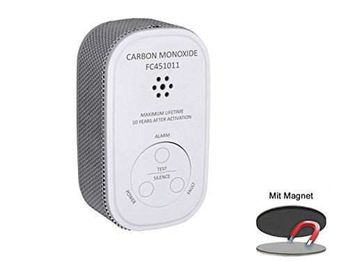 ELRO Kohlenmonoxid-Melder mit 10 Jahres Batterie, CO-Melder, 10-Jahres Sensor mit praktischer EASY & CLEAN Magnetmontage -