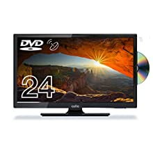 "Cello 24"" inch C24230FT2S2 LED TV/DVD HD Ready and Built In Satellite Made In The UK Black"