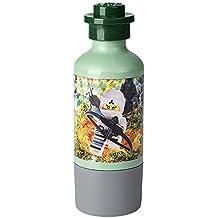 LEGO 4055 Ninjago Movie con Taza, Botella de Agua de 350 ml, Verde, Legion/Sand Green, 7.5 x 6.5 x 6.5 cm