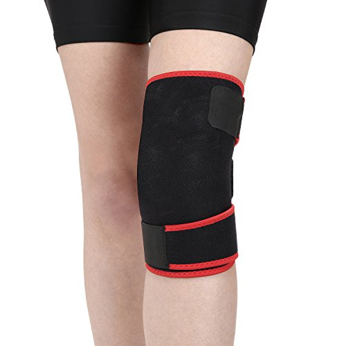 Strauss Adjustable Knee Support, Free Size (Black)