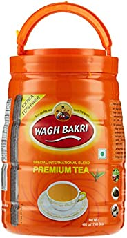 WAGH BAKRI Premium Tea Pet Jar, 495 gm