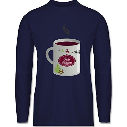 Weihnachten & Silvester - Glühwein Frohe Weihnachten - Longsleeve / langärmeliges T-Shirt für Herren Navy Blau