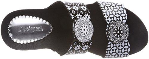 Desigual Shoes_Cycle Alhambra, Sandales Plateforme Femme Noir (2000 Negro)