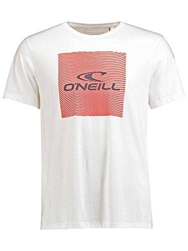 Herren T-Shirt O'Neill Square T-Shirt powder white