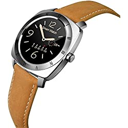 Leopard Shop DM88 Smart Watch Bluetooth 3.0 / 4.0 with TFT Capacitive Touch Screen Silver Gray