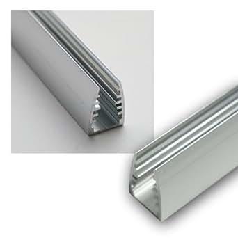 1m LED Alu-Glaskanten-Profil eloxiert, 12,5x18mm: Amazon