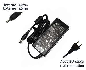 """AC Adaptateur secteur pourSamsung 300U 305U 305U1A (tous les modèles)chargeur ordinateur portable, adaptateur, alimentation """"Laptop Power (TM)"""" de marque (avec garantie 12 mois et câble d'alimentation européen)"""