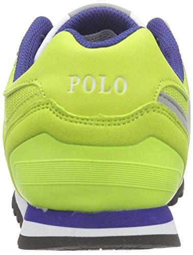 Polo Ralph Lauren Slaton, Baskets Basses mixte enfant Gris - Grau (Charcoal Grey/sulphur)