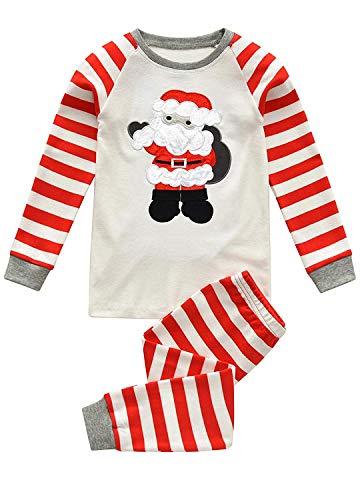 Qzrnly Jungen Schlafanzug Weihnachten Baumwolle Kinder Langarm Pyjama 98 104 110 116 122 128 134