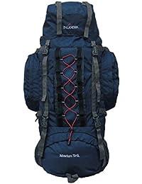 INLANDER 70+5 L Navy Blue Travel Bag for Hiking Trekking Daypack Rucksack with Rain Cover … …