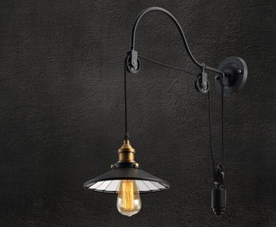 DZXYA Industrial Air Lounge Bar iron chandeliers living room creative single head (Metallo Acciaio Testata)