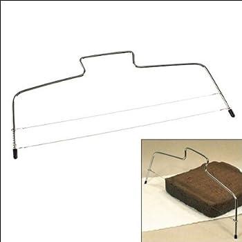 Okayji Cake Slicer / leveler / Cutter / Divider for making cake with Adjustable Wire