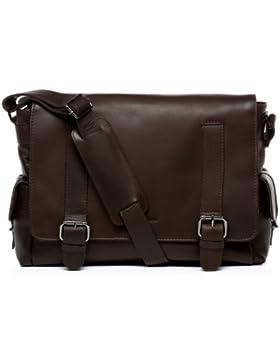 FEYNSINN® Messenger bag ASHTON - Herren Umhängetasche groß Ledertasche fit für tablet - iPad - Laptoptasche Herrentasche...