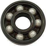 vovotrade high speed Ceramic Center Bearing De alta velocidad 608 híbrido cerámica centro de rodamiento para Fidget dedo Tri Spinner juguetes Y5B6 (negro)