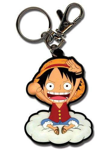 One Piece Luffy en el llavero de nubes de PVC