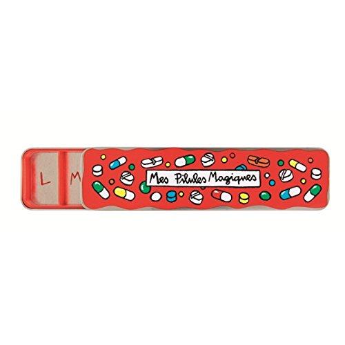 Derrire-la-porte–Pastillero-Mes-pilules-Magiques-mi-Magic-pastillas-Idioma-Francs