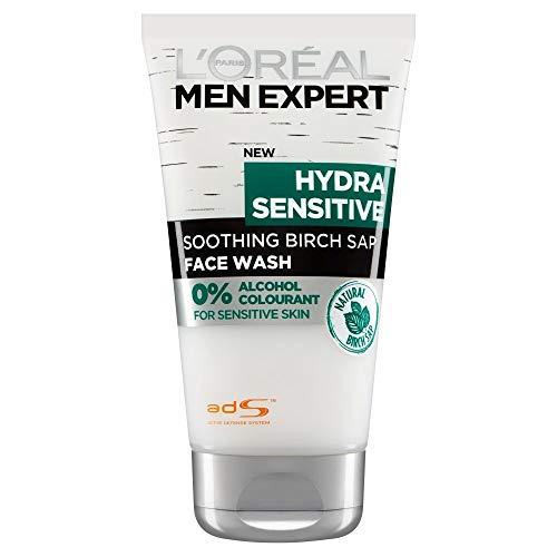 L'Oreal Paris Expert Hydra Sensitive Smoothing Birch Sap Face Wash for Men (150 ml)