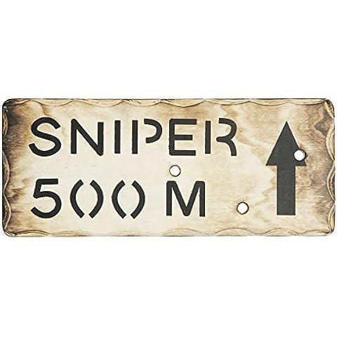 Ejército niños francotirador 500M pared de madera señal - Hacer Ejército niños Den Dormitorio sesión